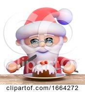 3d Santa Christmas Muffin