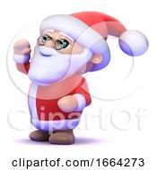 3d Santa Calls Out