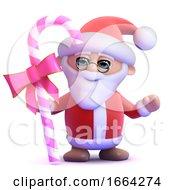 3d Santa Has Candy