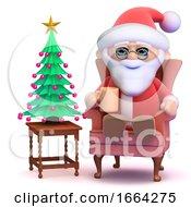 3d Santa Takes A Break