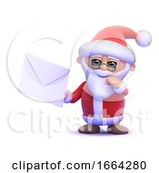 Poster, Art Print Of 3d Santa Claus Gets Mail