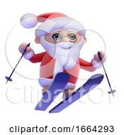 3d Santa Ski Jumping