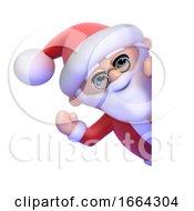 3d Santa Claus Waves Hello