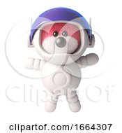3d Teddy Bear With Cute Pink Fur Wearing An Astronaut Spacesuit 3d Illustration