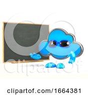 3d Cloud Teaches At The Blackboard