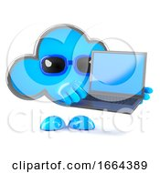 3d Cloud Laptop