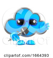 3d Cloud On The Microphone