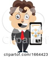 Young Business Man With Selfphone