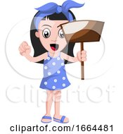 Girl With Dust Pan