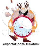 Donut Holding Clock