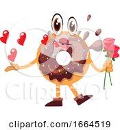 Poster, Art Print Of Donut Holding Roses