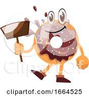 Donut Holding Dust Pan