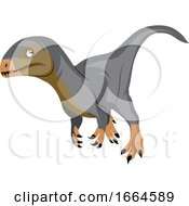 Brown Grey Dinosour by Morphart Creations