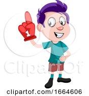 Boy With Big Glove