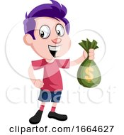 Boy With Bag Of Money