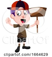 Boy With Dust Shovel