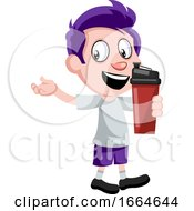 Boy With Thermos by Morphart Creations