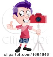 Boy With Camera by Morphart Creations