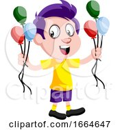 Boy With Balloons by Morphart Creations
