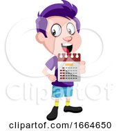 Boy Holding Calendar by Morphart Creations