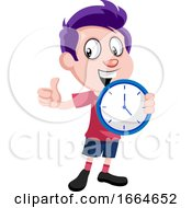Boy Holding Clock by Morphart Creations