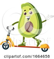 Avocado With Scooter