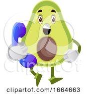 Avocado With Telephone