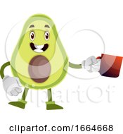 Poster, Art Print Of Avocado With Cup Of Tea