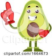 Avocado With Big Glove