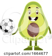 Avocado With Football Ball