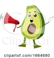 Avocado Holding Megaphone by Morphart Creations