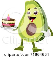 Avocado Holding Cake by Morphart Creations