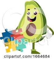 Avocado With Puzzle