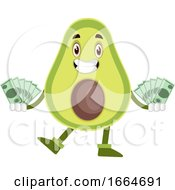 Avocado With Money by Morphart Creations
