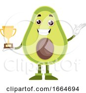 Avocado Holding Trophy by Morphart Creations