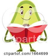 Avocado Reading Book by Morphart Creations