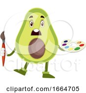 Avocado With Color Palette