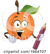 Apricot With Pen