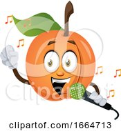 Apricot Singing On Microphone