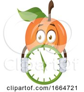 Apricot With Clock