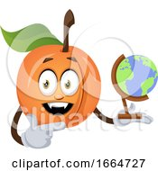 Apricot With Globe