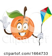 Poster, Art Print Of Apricot With Flying Kite