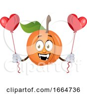 Apricot Holding Hearts