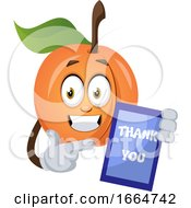 Apricot With Thank You Sign