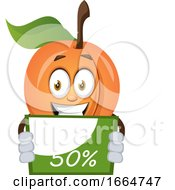 Apricot Holding A Sale Sign