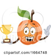 Apricot Holding Trophy