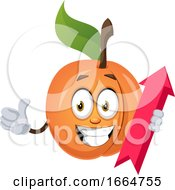 Apricot With Arrow Sign