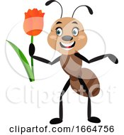 Ant With Rose