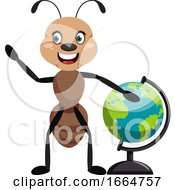 Ant With Globe
