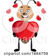 Poster, Art Print Of Ant With Big Heart